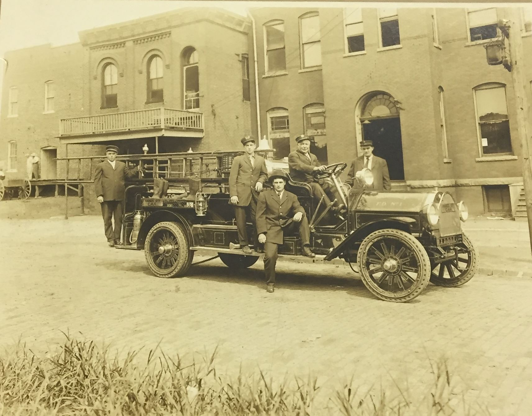 Moberlys first fire truck 1916